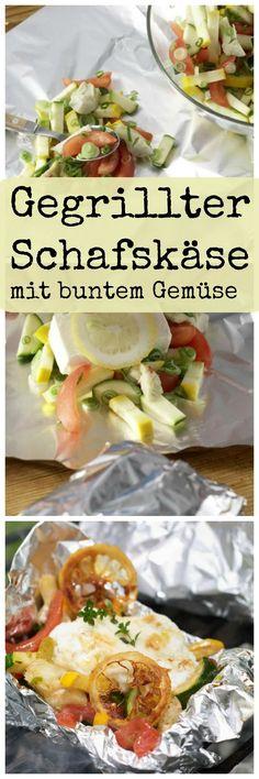 Kulinarische Grüße aus Griechenland: Gegrillter Schafskäse mit buntem Gemüse | http://eatsmarter.de/rezepte/gegrillter-schafskaese