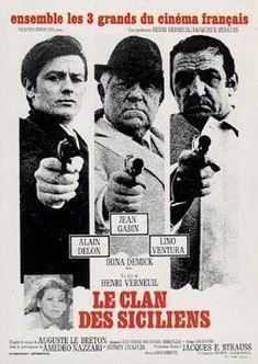 Avec Alain Delon et Lino Ventura