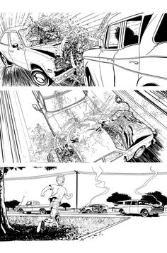 Syndrome Inks by davidmarquez on deviantART Comic Book Pages, Comic Page, Comic Books, Storyboard Examples, Black Saturday, Perspective Sketch, Comic Layout, Hippie Painting, Anime Weapons