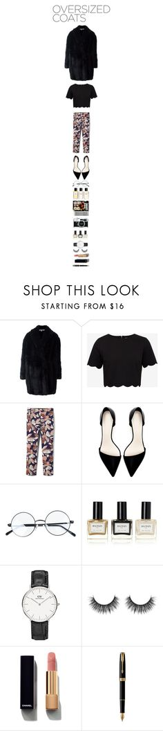 """""""..."""" by anaislachance ❤ liked on Polyvore featuring Alexander McQueen, Ted Baker, Banana Republic, Zara, Chanel, Jura, Balmain, Parker and oversizedcoat"""