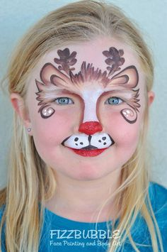 LOVE this design by one of my favorite Aussie artists can't wait to have her on FABAtv! Diy Face Paint, Face Painting Tips, Face Paint Makeup, Face Painting Designs, Body Painting, Reindeer Face Paint, Monkey Face Paint, Tinta Facial, Animal Face Paintings