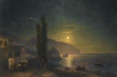 Moonrise over Ayu Dag , 1856 by Ivan Constantinovich Aivazovsky