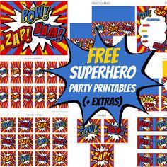 Free Superhero Party Printable Set!