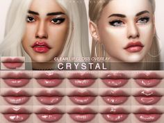 Clear lipgloss in 60 versions, made especially for my Lavender Rose DIY Lipstick Kit. Under tattoo category. For female + male sims. Found in TSR Category 'Sims 4 Female Lipstick' Source by pipipsimon Mods Sims 4, Sims 4 Game Mods, Sims 4 Mods Clothes, The Sims 4 Pack, Sims 4 Cc Packs, Diy Lipstick, Lipgloss, Sims 4 Cc Eyes, Sims Cc