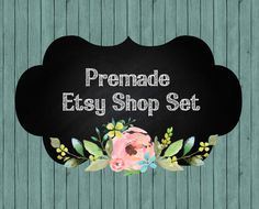Etsy shop banner set Etsy shop cover Etsy by LemonTreeDigital