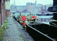 Gas Street Basin by R~P~M, via Flickr. Bognor's last home as a working boat. Canal Barge, Canal Boat, Birmingham Canal, Dutch Barge, Old Photography, Narrowboat, Historical Images, Old London, Old Photos
