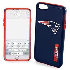 New England Patriots NFL Iphone 6 Plus Impact Dual Hybrid 2 Piece Phone Cover Case