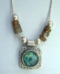 Silver roman glass necklace , labradorite necklace 49 USD http://www.bluenoemi-jewelry.com/hastsisqrogl.html