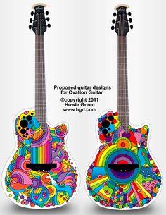 Pop Art Ovation guitars by Howie Green
