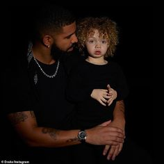 Just like dad: Among his doting fans, fellow rappers 21 Savage joked that Adonis 'already ... Drake Drizzy, Aubrey Drake, First Day School, Casual Fall Outfits, Outfit Winter, Bollywood News, Beautiful Family, Cornrows, Latest Pics