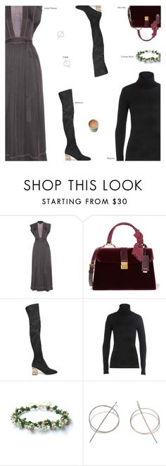 """""""Untitled #3735"""" by amberelb ❤ liked on Polyvore featuring Isabel Marant, Miu Miu, Burberry, Majestic and TAKK"""
