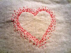 mon petit lyons: Heart Embroidery & Giveaway