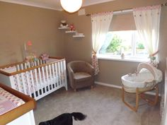 Another angle of the new nursery, ready for our little girl