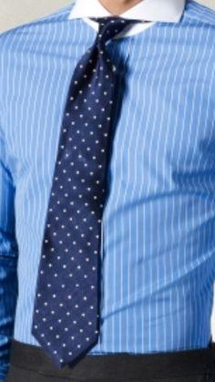 White cutaway collar