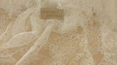 Ivory lace fabric Wedding lace Gorgeous Ivory by ChantillyDentelle