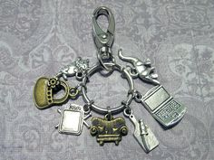 FRIENDS Keychain with SEVEN Charms - Custom Orders Welcome