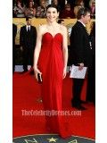 Julianna Margulies Red Strapless Prom Dress 17th Annual Screen Actor Guild Awards Red Carpet - TheCelebrityDresses