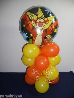 WINNIE THE POOH TIGGER BALLOON ON BASE PARTY DECORATION DISPLAY | eBay