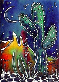 "BATIK #18 ""WINTER SOLSTICE"" by Margaret Storer-Roche, via Flickr"