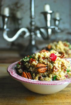 By far our most popular holiday recipe - adding to our Christmas dinner menu. So good, plus so healthy! Cranberry Pecan Quinoa. Completely vegan.
