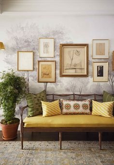 Designer Cece Barfield Thompson's Gramercy Park New York Apartment Tour 2021 Veranda Magazine, Gramercy Park, Enchanted Home, Green Curtains, Cafe Chairs, Entry Hall, Visual Comfort, Classic House, White Walls