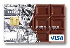 Японский банк Epos Card, пожалуй, является лидером по количеству крутых дизайнерских кредиток. Причем разработчиком дизайна может стать любой желающий — они регулярно объявляют конкурсы и затем действительно выпускают карты-победители. Карта-шоколадка в серебряной фольге для любителей сладкого.  https://www.facebook.com/photo.php?fbid=587636851277344&set=a.186840078023692.36320.163943010313399&type=1&theater