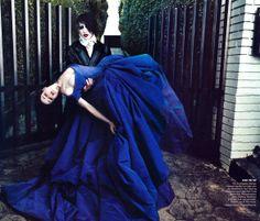 stunning blue gown - Dita & Manson