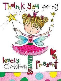 Rachel Ellen Girls Thank You For My Christmas Present Cards