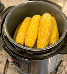 This Instant Pot Corn on the Cob recipe makes perfectly cooked sweet corn in no time! Corn Recipes, Veggie Recipes, Crockpot Recipes, Cooking Recipes, Yummy Recipes, Yummy Food, Cooking Sweet Corn, Instant Pot Dinner Recipes, Chowder Recipes