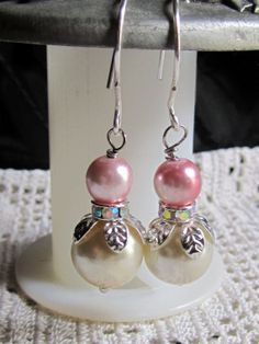 Amy Vintage Shabby Pearl Earring Assemblage by Scentedlingerie, @ Etsy!~!