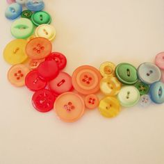 Button necklace Over the rainbow by Minski on Etsy