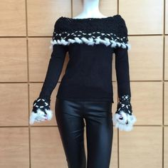 Felicity Crochet Braided Rabbit Sweater WAS $90.00 NOW $31.50