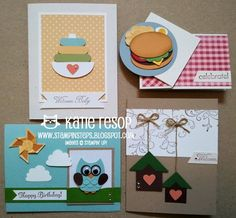 Stampin' Steps - cute and clever punch art cards.