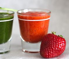 Healthy Veggie Shots and Fruit Chasers - Desserts with Benefits