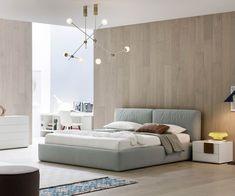 Bed Frame Design, Bed Design, Bedroom Decor Dark, Bedroom Furniture, Modern Bedroom Design, Modern Room, Upholstered Beds, Contemporary Furniture, Home And Living