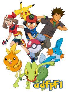 Ash (AG), Aura, Brock y Pokemon by on DeviantArt Pikachu Pikachu, Ash Pokemon, Pokemon People, Pokemon Fan, Pokemon Poster, Personajes Paw Patrol, Papercraft Pokemon, Pokemon Advanced, Legendary Pictures