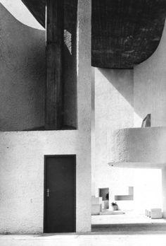 the chapel of notre dame du haut, ronchamp, france, 1954 photo by lucien hervé Le Corbusier, Mondrian, Bauhaus, Lucien, Architectural Photographers, Herve, Space Architecture, Facade House, Built Environment