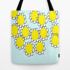 All Yellow in Blue Tote Bag
