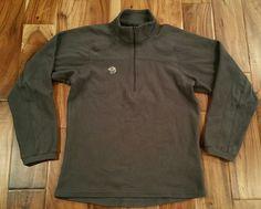 Mountain Hardwear Half Zip Fleece Pullover Sweater Jacket Swacket Men's Small  #MountainHardwear #FleeceJacket