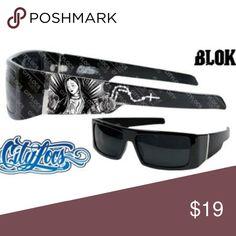 Locs Black Old School Men Sunglasses Cholo City Gangster Rectangular Shades