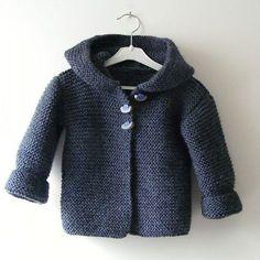We Like Knitting: Hooded Baby Jacket - Free Pattern