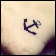 2nd tattoo :) Love it! #faith. #hope. #love.  #anchored friendship. (Best friend has matching one!)