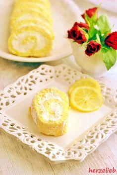 Zitronenrolle - schnelles Rezept für einen erfrischenden Genuss auf dem Kuchentisch