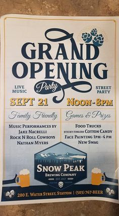 Sticky Fingers, Brewing Company, Grand Opening, Opening Day