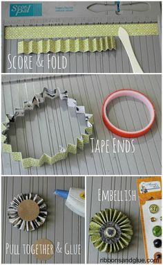 How to make a Fan Fold-Rosette