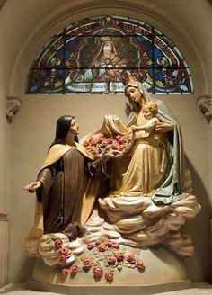 Our Lady with St Therese