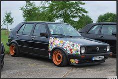 Stickers bomb - Golf - love how the steelies look here