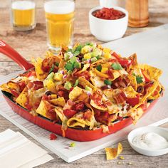 Nacho aux trois fromages - 5 ingredients 15 minutes Churros, Appetizer Recipes, Appetizers, Food Truck Business, Tacos And Burritos, Tex Mex, Vegetable Pizza, Mexican Food Recipes, Food And Drink