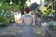 DIY Cut-Out Dress