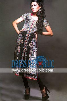 Black Fornia, Product code: DR9624, by www.dressrepublic.com - Keywords: Pakistani Designers Pret Collection 2012, Pret Dresses by Pakistani Designers 2012